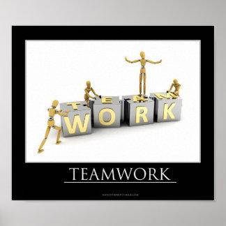 Concepto del trabajo en equipo - poster