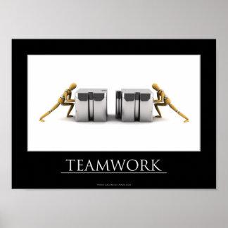 Concepto del trabajo en equipo póster