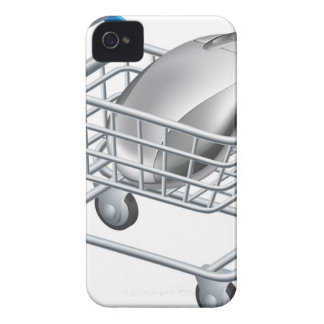 Concepto en línea de las compras del Internet iPhone 4 Case-Mate Cárcasas