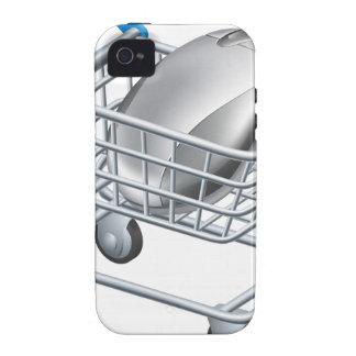 Concepto en línea de las compras del Internet iPhone 4 Carcasas
