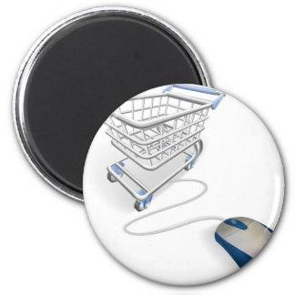 Concepto en línea de las compras del Internet Iman De Nevera