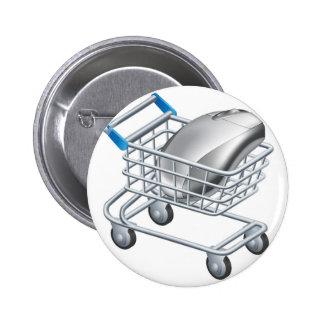 Concepto en línea de las compras del Internet Pins