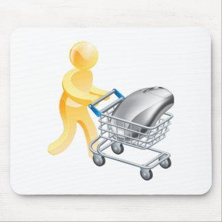 Concepto en línea de las compras del Internet Tapete De Ratón