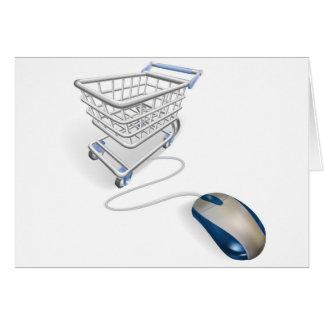 Concepto en línea de las compras del Internet Tarjeton