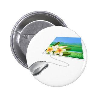 Concepto en línea del Internet de la foto del rató Pins