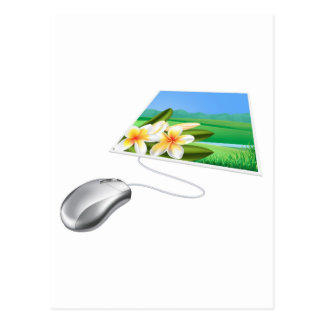 Concepto en línea del Internet de la foto del rató Postal