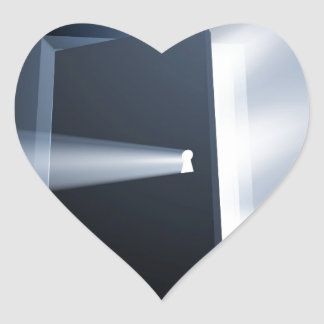 Concepto entornado del haz luminoso de puerta pegatinas corazon personalizadas
