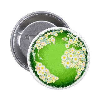 Concepto floral del globo de la flor pins