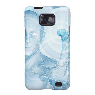 Concepto futuro de la tecnología 3D app Samsung Galaxy S2 Carcasas