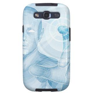 Concepto futuro de la tecnología 3D app Galaxy SIII Protectores