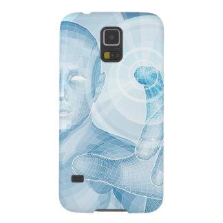 Concepto futuro de la tecnología 3D app Carcasa De Galaxy S5