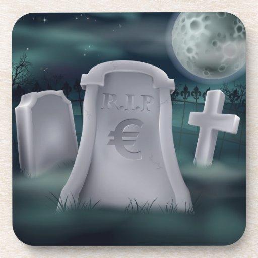 Concepto grave euro posavasos de bebidas