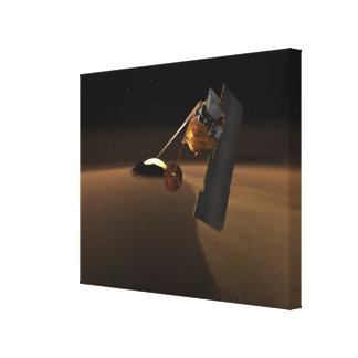 Concepto para el explorador volcánico de la vida lona estirada galerias