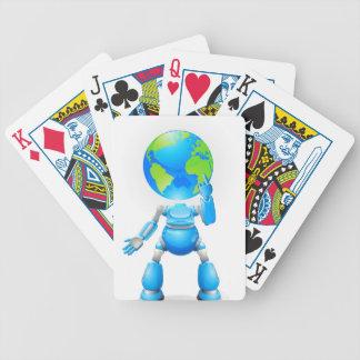 Concepto principal del robot del globo cartas de juego
