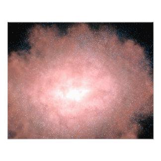 Concepto qué de una galaxia polvorienta y brillant impresión fotográfica