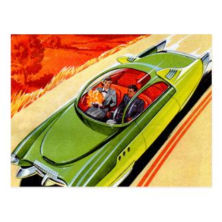 Concepto retro de Kaiser Frasier del coche del Postales