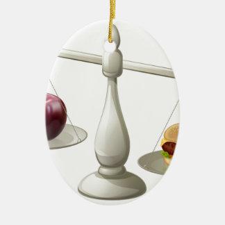 Concepto sano de la fuerza de voluntad de la adorno ovalado de cerámica