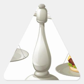Concepto sano de la fuerza de voluntad de la pegatina triangular