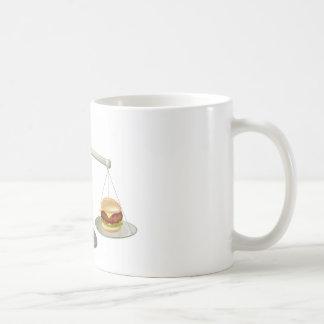 Concepto sano de la fuerza de voluntad de la taza básica blanca