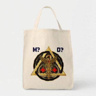 Concepto universal médico del artista del diseño bolsas lienzo