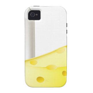 Conceptos de los contrarios de la tiza y del queso Case-Mate iPhone 4 carcasa