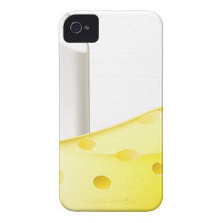 Conceptos de los contrarios de la tiza y del queso iPhone 4 Case-Mate coberturas