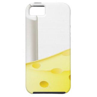 Conceptos de los contrarios de la tiza y del queso iPhone 5 protector