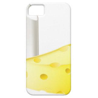 Conceptos de los contrarios de la tiza y del queso iPhone 5 Case-Mate cobertura