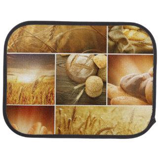 Conceptos de Wheat.Harvest. Collage del cereal Alfombrilla De Auto