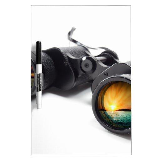 Conceptual binoculars Dry-Erase board