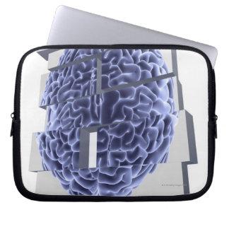 Conceptual computer artwork of building blocks laptop sleeves