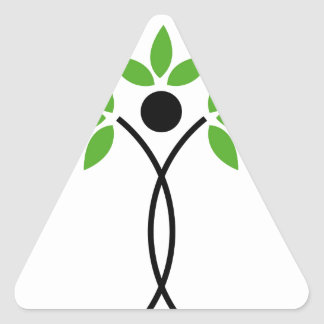 Conceptual design of a tree and a human triangle sticker