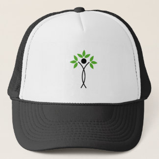 Conceptual design of a tree and a human trucker hat
