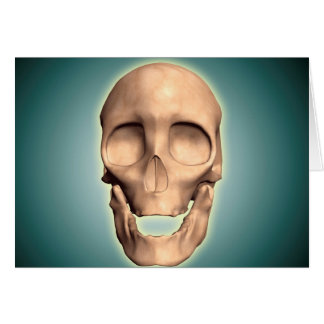 Conceptual Image Of Human Skull, Front View Card