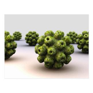 Conceptual Image Of Polyomavirus Postcard