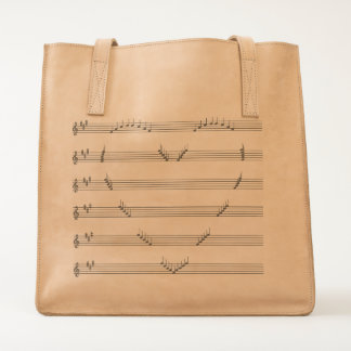 Conceptual Love Song Music Notation Tote