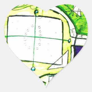 Conceptual Plane Heart Sticker