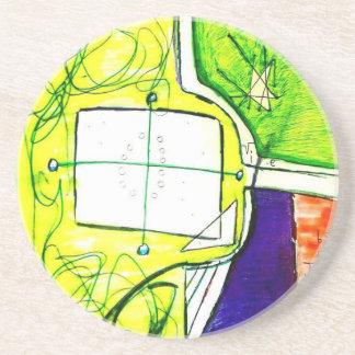 Conceptual Plane Sandstone Coaster