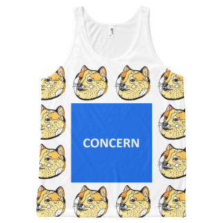 Concern Doge All-Over Print Tank Top