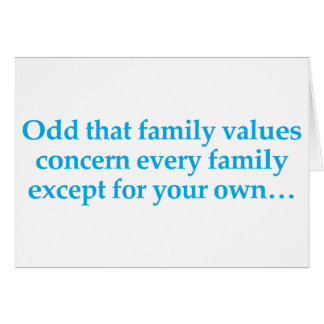 Concern yourself with your own family greeting card