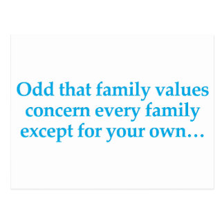 Concern yourself with your own family postcard