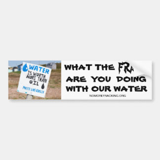 Concerned Citizens Against Fracking Car Bumper Sticker