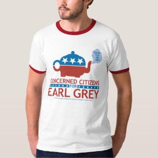 Concerned Citizens for Earl Grey Ringer T-Shirt