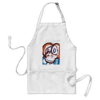 Concerned Simian Adult Apron