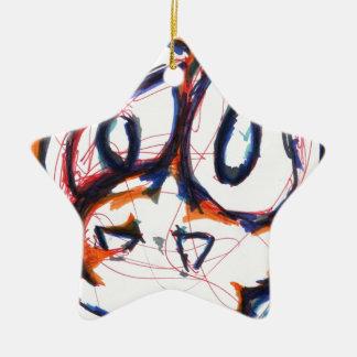 Concerned Simian Ceramic Ornament