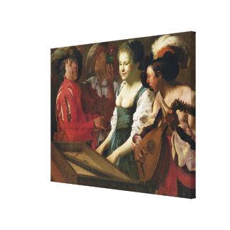 Concert, 1626 canvas print