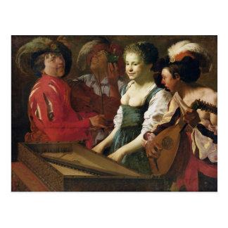 Concert, 1626 postcard