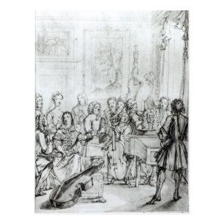 Concert at Montague House, 1736 Postcard