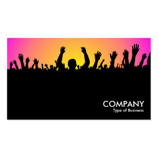 Concert - Black, Yellow & Magenta Business Card Template
