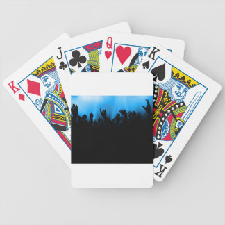 Concert Crowd Bicycle Playing Cards